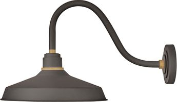 Hinkley 10443MR Foundry Modern Museum Bronze / Brass Exterior Wall Sconce Lighting