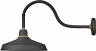 Hinkley 10453TK Foundry Modern Textured Black / Brass Exterior Wall Light Sconce