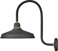 Hinkley 10473TK Foundry Contemporary Textured Black / Brass Outdoor Wall Lamp