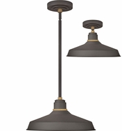 Hinkley 10483MR Foundry Contemporary Museum Bronze / Brass Outdoor Pendant Lighting Fixture / Overhead Lighting