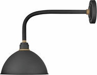 Hinkley 10514TK Foundry Contemporary Textured Black / Brass Outdoor Light Sconce