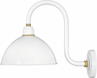 Hinkley 10564GW Foundry Contemporary Gloss White / Brass Outdoor Wall Lighting Fixture