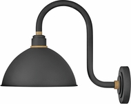 Hinkley 10564TK Foundry Contemporary Textured Black / Brass Outdoor Wall Sconce Light