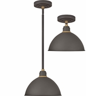 Hinkley 10584MR Foundry Modern Museum Bronze / Brass Exterior Pendant Hanging Light / Flush Ceiling Light Fixture