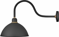 Hinkley 10655TK Foundry Contemporary Textured Black / Brass Outdoor Wall Lighting Fixture