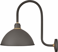 Hinkley 10675MR Foundry Contemporary Museum Bronze / Brass Outdoor Wall Sconce Light