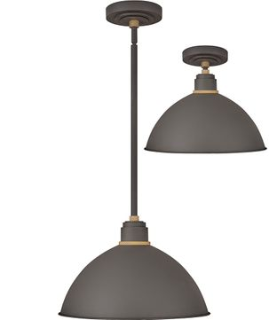 Hinkley 10685MR Foundry Modern Museum Bronze / Brass Exterior Drop Ceiling Lighting / Overhead Light Fixture