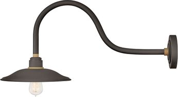 Hinkley 10756MR Foundry Modern Museum Bronze / Brass Exterior Wall Sconce Lighting