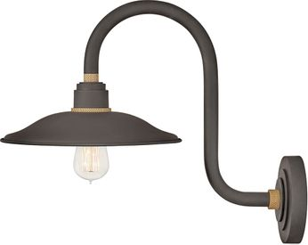 Hinkley 10766MR Foundry Contemporary Museum Bronze / Brass Outdoor Wall Lighting Fixture