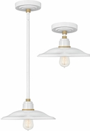 Hinkley 10786GW Foundry Modern Gloss White / Brass Exterior Ceiling Pendant Light / Ceiling Lighting