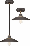 Hinkley 10786MR Foundry Contemporary Museum Bronze / Brass Outdoor Drop Ceiling Light Fixture / Ceiling Light