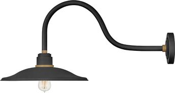 Hinkley 10857TK Foundry Contemporary Textured Black / Brass Outdoor Wall Mounted Lamp