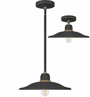 Hinkley 10887TK Foundry Contemporary Textured Black / Brass Outdoor Lighting Pendant / Ceiling Light Fixture