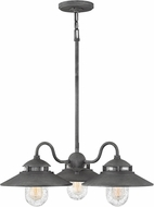 Hinkley 1113DZ Atwell Vintage Aged Zinc Outdoor Chandelier Light
