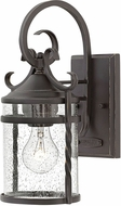 Hinkley 1140OL-CL Casa Olde Black Outdoor Small Wall Sconce