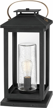 Hinkley 1167BK Atwater Contemporary Black Outdoor Pier Mount