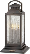 Hinkley 1187BLB-LV Revere Contemporary Black / Dark Brass LED Outdoor Pier Mount