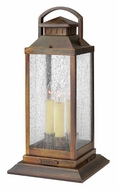 Hinkley 1187SN Revere 20 Inch Tall Traditional Sienna Pier Mount Lighting