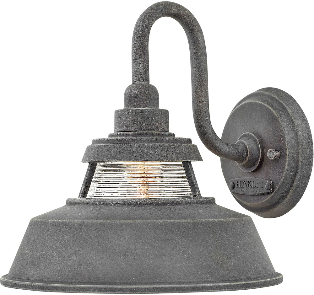 Hinkley 1194dz Troyer Aged Zinc Outdoor Lighting Sconce Loading Zoom