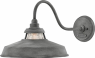Hinkley 1195DZ Troyer Modern Aged Zinc Exterior Wall Lighting Sconce