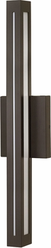 Hinkley 12314BZ Vue Contemporary Bronze LED Outdoor Lamp Sconce