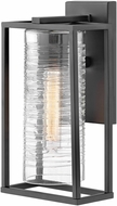 Hinkley 1250SK Pax Modern Satin Black Outdoor Small Wall Sconce Lighting