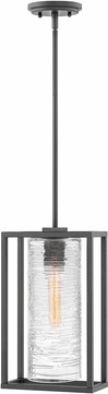 Hinkley 1252SK Pax Contemporary Satin Black Exterior Hanging Lamp