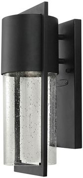 Hinkley 1320BK Shelter Contemporary Black Exterior Wall Sconce
