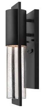 Hinkley 1326BK Shelter 15 Inch Tall Black Contemporary Exterior Sconce
