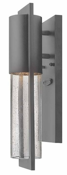 Hinkley 1326HE Shelter Modern Hematite Finish Outdoor Wall Sconce - 15 Inches Tall