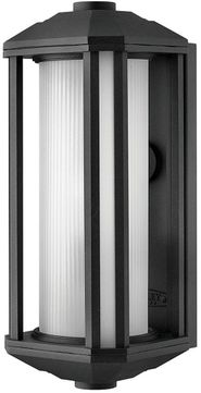 Hinkley 1390BK-LED Castelle Modern Black LED Outdoor 15  Light Sconce