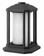 Hinkley 1397BK Castelle 12 Inch Tall Black Finish Pier Mount Lighting