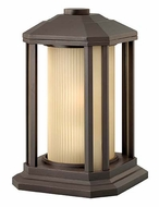 Hinkley 1397BZ Castelle Exterior Bronze Finish 12 Inch Tall Pier Mount Lamp