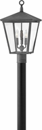 Hinkley 1431DZ Trellis Aged Zinc Exterior Post Lamp