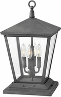 Hinkley 1437DZ-LV Trellis Traditional Black / Gray LED Outdoor Pier Mount