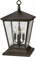 Hinkley 1437RB-LV Trellis Traditional Dark Bronze LED Exterior Pier Mount