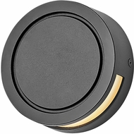 Hinkley 1517BK Modern Deck Round Contemporary Black LED Outdoor Lamp Sconce