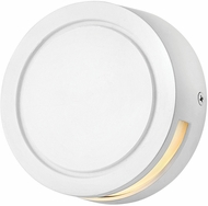 Hinkley 1517SW Modern Deck Round Modern Satin White LED Exterior Wall Sconce Lighting