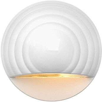 Hinkley 1549MW-LED Deck Round Contemporary Matte White LED Outdoor Step Light