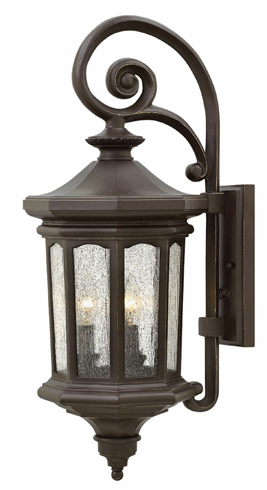 Hinkley OZ Raley Traditional Oil Rubbed Bronze Exterior Wall - Bathroom sconce lighting oil rubbed bronze