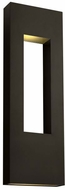 Hinkley 1639BZ Atlantis Modern Bronze Halogen Exterior Wall Sconce Light