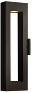 Hinkley 1644BZ-LED Atlantis Contemporary Bronze LED Exterior Lighting Wall Sconce