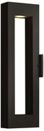 Hinkley 1644SK Atlantis Contemporary Satin Black LED Outdoor Wall Lighting Sconce