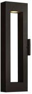 Hinkley 1644SK-LED Atlantis Modern Satin Black LED Exterior Wall Sconce Lighting