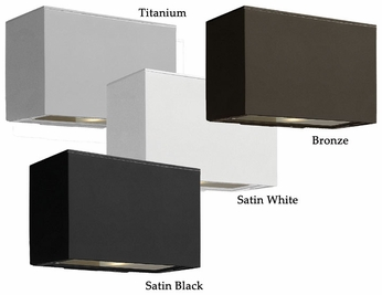 Hinkley 1646 Atlantis Contemporary Bottom Light Casting Exterior Wall Lighting Fixture