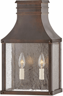 Hinkley 17464BLC Beacon Hill Vintage Blackened Copper Exterior Wall Lighting Fixture