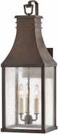 Hinkley 17465BLC Beacon Hill Vintage Blackened Copper Outdoor Lamp Sconce