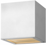 Hinkley 1768SW Kube Contemporary Satin White LED Outdoor Wall Light Sconce