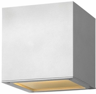 Hinkley 1769SW Kube Contemporary Satin White LED Outdoor Wall Lighting