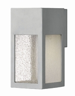 Hinkley 1780TT-LL Rook Contemporary Titanium LED Exterior Small Lamp Sconce